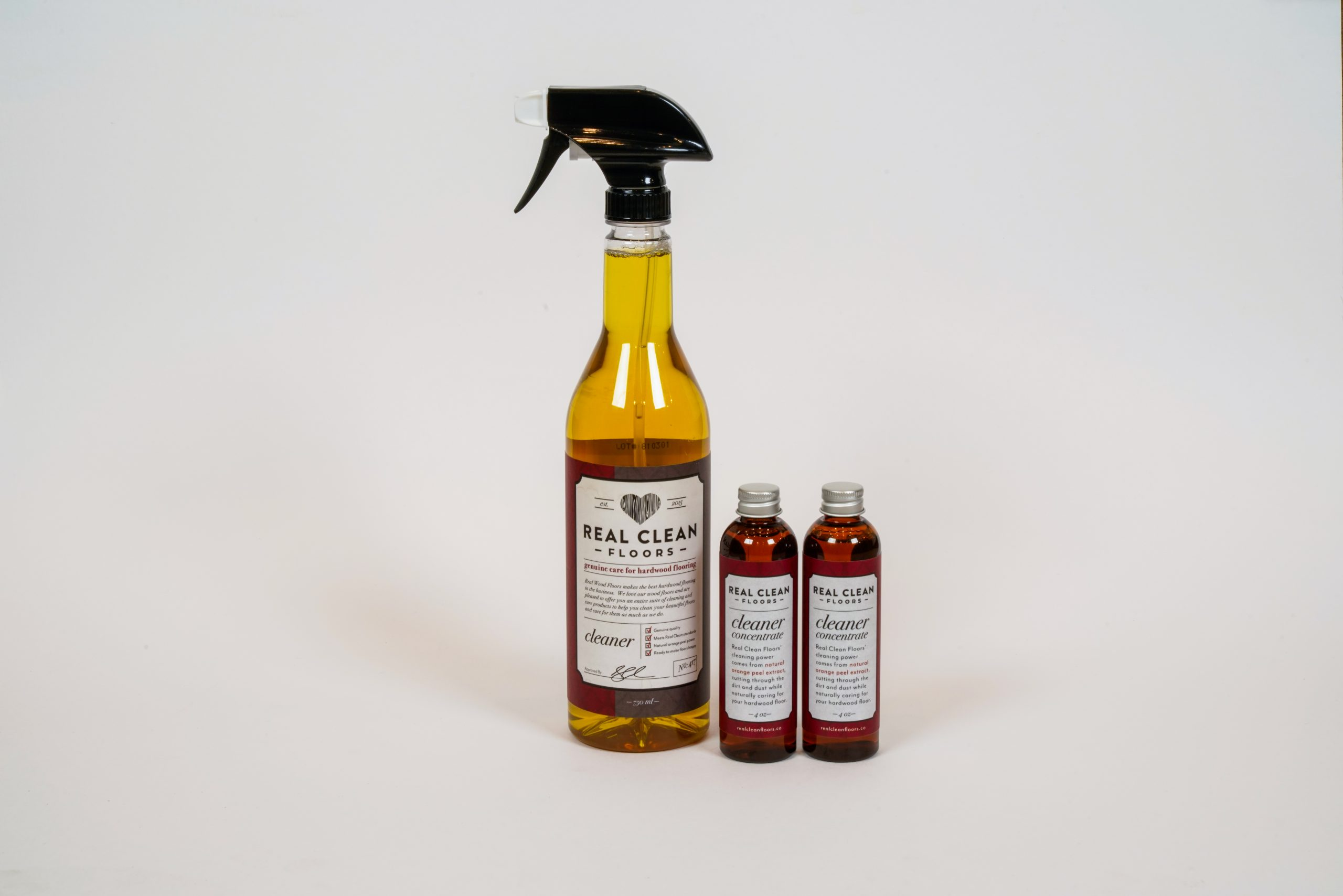Hardwood Cleaning Spray 2 Bottles Of Concentrate Real Clean